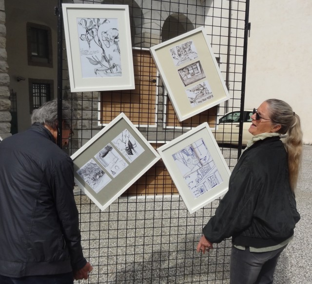 Exhibition of my drawings in Udine, April 2014, moves location with difficulty
